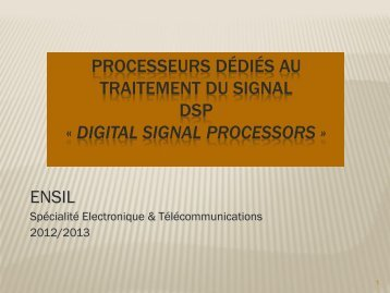 Processeurs Dédiés au Traitement du Signal