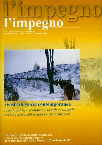 """""""l'impegno"""" in formato pdf - Istituto per la storia della Resistenza e ..."""