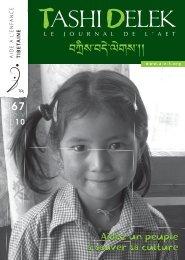 Télécharger le TD 67 en format PDF - Aide à l'enfance tibétaine