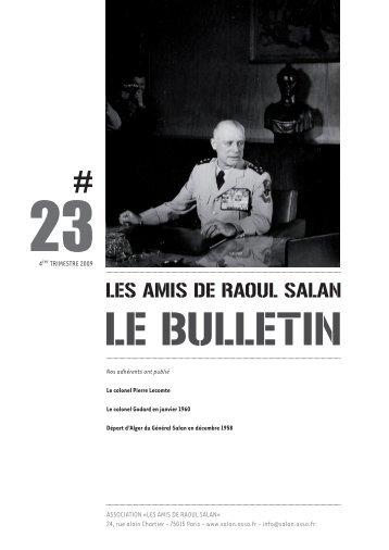 bulletin 23 / 4eme trimestre 2009 - Association des amis de Raoul ...