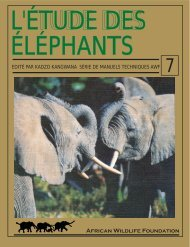 table des matiéres - The African Elephant Specialist Group