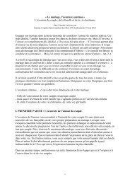 Intervention du P. Vincent Leclercq - Alliance Assomptionniste