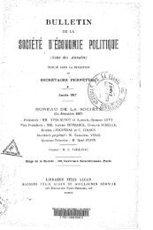 Bulletin de la Société d'économie politique. 1917.