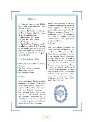 Pages 13-15 - Institut du Christ Roi Souverain Prêtre
