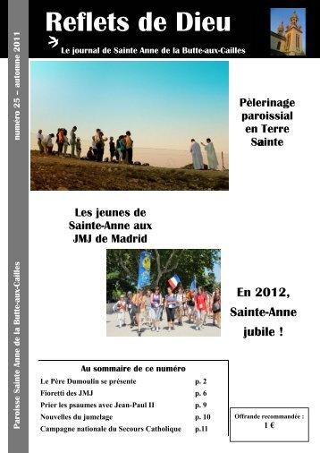 Reflets 25 - Paroisse Sainte-Anne de la Butte-aux-Cailles