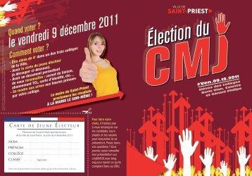Election 2011 du CMJ - Saint-Priest