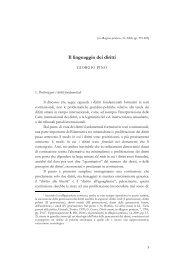 Pino, Il linguaggio dei diritti