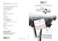 présente la collection - Institut d'histoire du temps présent - IHTP