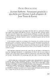 PAOLO PROCACCIOLI - Sapienza