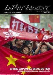octobre 2012 - Lycée français de Shanghai