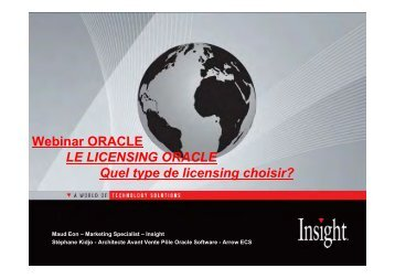 Webinar ORACLE LE LICENSING ORACLE Quel type de licensing ...