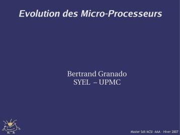 Evolution des Micro-Processeurs