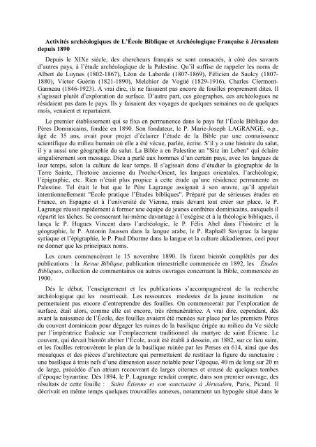 the PDF - Ecole biblique et archéologique française de Jérusalem
