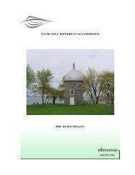 ÉTUDE SUR L'HISTOIRE ET LE PATRIMOINE MRC DE ROUSSILLON
