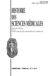 histoire sciences médicales - Bibliothèque interuniversitaire de ...