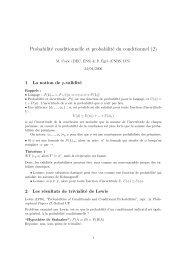 Probabilité conditionnelle et probabilité du conditionnel (2)