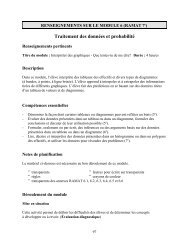 Traitement des données et probabilité - Cforp.ca