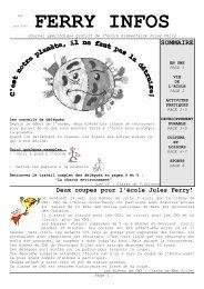 Ferry infos juin 2009 - Ecole élémentaire Jules Ferry - Le Mans