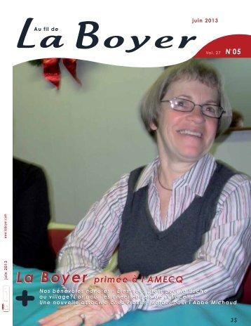 La Boyer primée à l'AMECQ La Boyer primée à l ... - Au fil de La Boyer