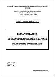 Le manipulateur dans l'action humanitaire - CHU Montpellier