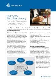 Factsheet Alternative Risikofinanzierung - Kessler & Co AG