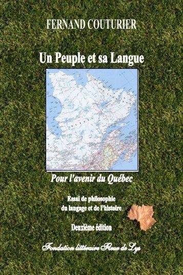 Un peuple et sa langue - Fondation littéraire Fleur de Lys