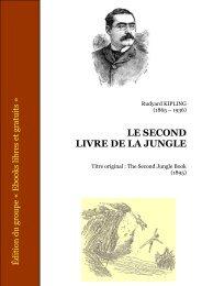 le second livre de la jungle - CRDP de l'Académie de Strasbourg