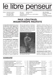paul léautaud, misanthrope pacifiste - Association Suisse des Libres ...