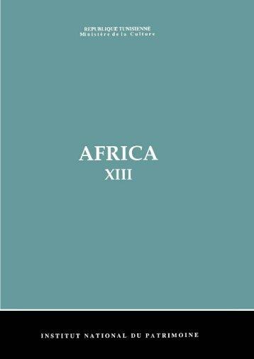 africa - Institut National du Patrimoine