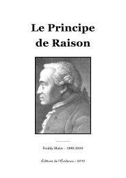 Le Principe de Raison - Église Réaliste