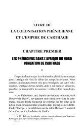 LIVRE III LA COLONISATION PHÉNICIENNE ET L'EMPIRE DE ...