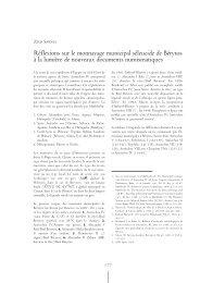 Réflexions sur le monnayage municipal séleucide de Bérytos à la ...