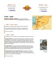 SYRIE - LIBAN - Mithra travel