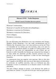 Discours ONM – Nozha Boujemaa Monsieur l ... - Leaders