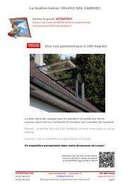 La fenêtre-balcon VELUX® GDL CABRIO® Une vue panoramique à ...