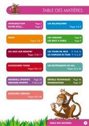 Catalogue Collectivité - Plaines de jeux en bois et mobilier ... - Module