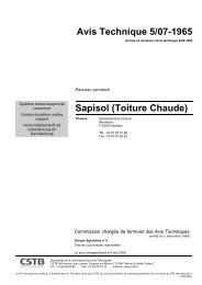 Avis Technique 5/07-1965 Sapisol (Toiture Chaude) - Ce site de ...