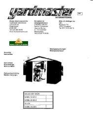 Opbouwbeschrijving Yardmaster GEYZ - Azalp
