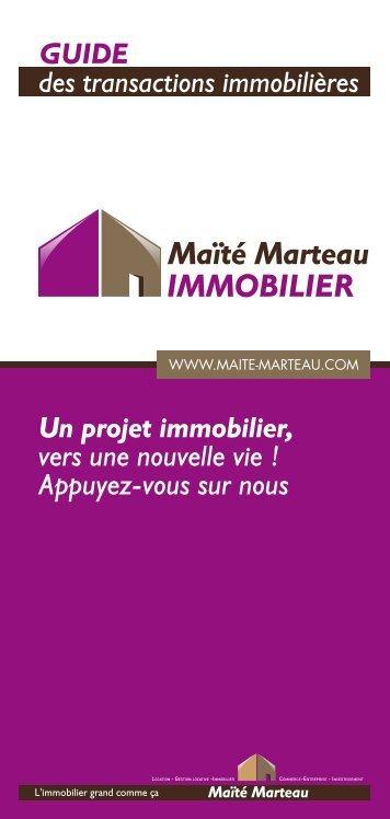 Guide des Transactions Immobilières - Maïté Marteau