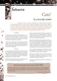 Scénario (CATS) La nuit des temps - Jeux d'Ombres