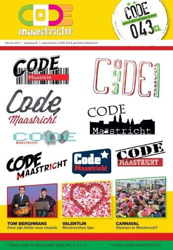 Deze code is duurzaam gedrukt, z.o.z. www.codemaastricht.nl