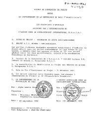 ACCORD DE SUBVENTION DE PROJET ENTRE LES ETATS-UNIS ...