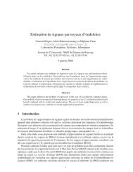 Estimation de signaux par noyaux d'ondelettes - ASI - INSA de Rouen