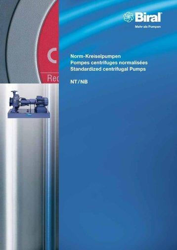 Norm-Kreiselpumpen Pompes centrifuges normalisées ... - Biral