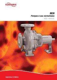 MEN Pompes à eau normalisées - Flowserve Corporation