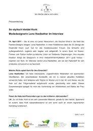 So stylisch kleidet Kork: Modedesignerin Lena Hasibether im Interview