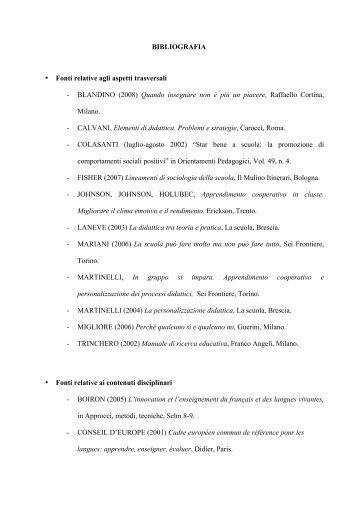 Riferimenti, bibliografia e/o sitografia - Provincia di Torino
