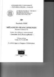UETANGES FRANCOPHONES