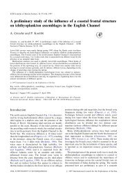 A preliminary study of the influence of a coastal frontal structure on ...