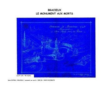 bracieux le monument aux morts - Communauté de communes du ...